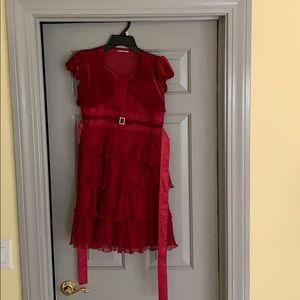 Kids Red Formal Dress